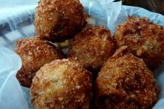 Boudin Balls - Food in Baton Rouge, Louisiana. Yum!
