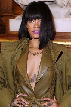 Rihanna's Ever-Changing Hairstyles and Makeup Looks - Rihanna's Beauty Transformation Orchid Lipstick