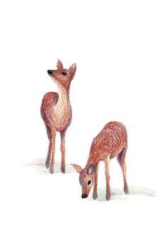 Postcard My Deer. Illustration by IsaBella.