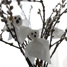 Law of Taste: Four Quick DIY Halloween Ideas / Četiri brze Halloween ideje - Paper Ghosts