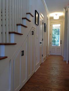 Storage under stairs
