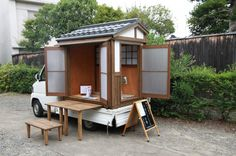 the ultimate traveling tea ceremony! http://www.skrp.jp/suzukimotors/index.html