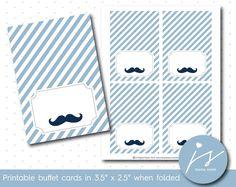 Light mint blue little man mustache buffet cards, Food Tent, Mint Blue, Teal, Tent Cards, For Your Party, Printable Paper, Cute Food, Little Man, Mustache