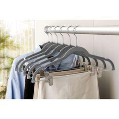 Velvet Suit Coat Hanger with Clip