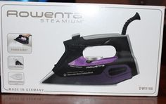 Rowenta Mercedes Benz Fashion Week Steamium 1800W Steam Iron NIB Black/Purple #Rowenta