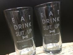 Eat, Drink and Suit Up.... Great idea for a groomsmen gift from @TheManRegistry