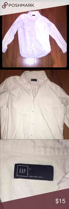 Gap Men's Button Down 🇺🇸 White Perfect condition  No stains or damages  Gap Brand GAP Shirts Dress Shirts