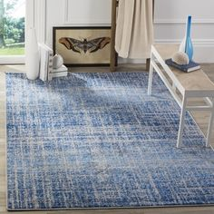 safavieh adirondack modern abstract blue silver rug 4u0027 x 6u0027 by safavieh