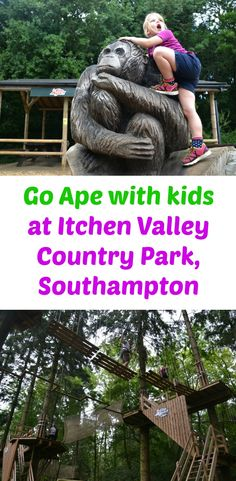 A review of Go Ape with kids at Itchen Valley Country Park, Southampton, where children over 1m can experience high ropes on the Tree Top Junior course