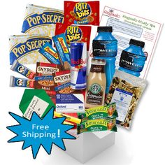 Power Pack / long study nights don't stand a chance against this powerful care package that will fuel any student to conquer their exams #college #exams #carepackages