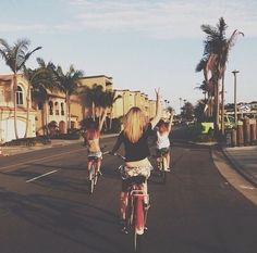 Evening cycle ride with friends