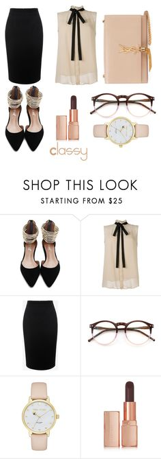 """""""Classy"""" by clara-jessalyn ❤ liked on Polyvore featuring Alexander McQueen, Wildfox, Kate Spade, Illamasqua and Yves Saint Laurent"""