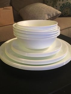 Lorren Home Trends 57 Piece Gold Border Porcelain Dinnerware Set In
