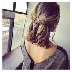 Cute Braids for Short Hair ❤ liked on Polyvore featuring accessories, hair accessories and short hair accessories
