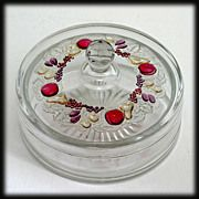 Westmoreland Wakefield Ruby Stained Mint Dish Compote Vintage Glass Ruby Clear