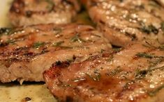 Grilled Honey Rosemary Pork Chops - Another pinner wrote: quite possibly the best grilled pork chops I've ever had! This glaze is so simple to put together and is absolutely incredible! Best Grilled Pork Chops, Grilled Meat, Slow Cooker Recipes, Crockpot Recipes, Cooking Recipes, Best Slow Cooker Pork Chop Recipe, Rosemary Pork Chops, Tender Pork Chops, Dash Diet Recipes