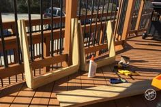 A bench. A cooler. The most amazing Cooler Bench you've ever seen. Check out these free DIY-friendly plans. Wood Bench Plans, Woodworking Shop Layout, Best Woodworking Tools, Woodworking Furniture Plans, Woodworking Projects, Backyard Projects, Wood Projects, Furniture Projects, Deck Bench Seating
