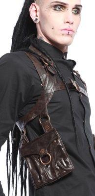 Leather Steampunk Shoulder Holster - Saddlebag alternate