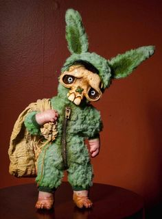 green skully bunny Another forgotten friend