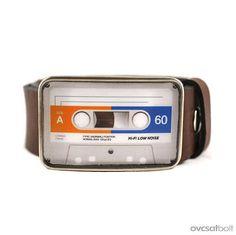 Audio Cassette Belt Buckle Retro Belt Buckle by myBeltBuckle, $22.00