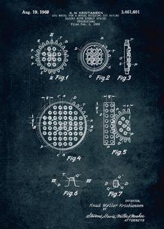 "LEGO Patents Cog Wheel artwork by artist ""Xavier Vieira"". Lego Construction, Cogs, Patent Prints, Poster Prints, Posters, Metal, Artist, Artwork, Architectural Sketches"