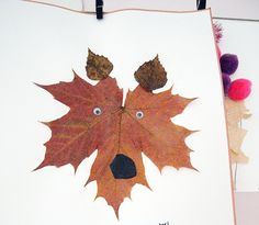 Herfst tekening | Autumn leave fun with kids #DIY
