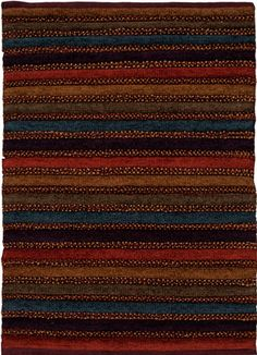 modernrugs.com yellow red blue brown textured striped rug