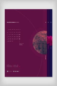 Calendar Planetarium by Emigo, via Behance Calendar Layout, Calendar Design, Layout Design, Print Design, Logo Design, Editorial Layout, Editorial Design, Book Layout, Corporate Design