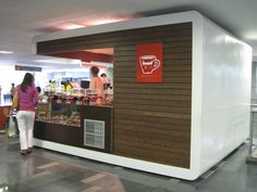 Kiosk, metal and wood