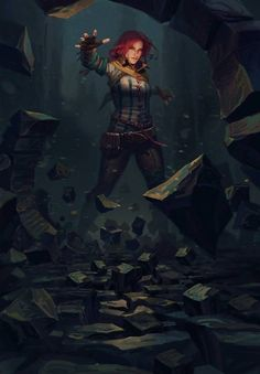 View an image titled 'Triss: Telekinesis Art' in our Gwent: The Witcher Card Game art gallery featuring official character designs, concept art, and promo pictures. The Witcher Geralt, Witcher Art, Triss Merigold Witcher 3, Triss Merigold Cosplay, Character Inspiration, Character Art, Character Design, Dark Fantasy Art, Fantasy Artwork
