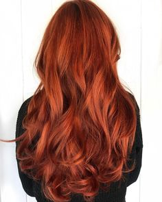 We love this long fiery auburn red fall-ready hair color from Distinctive Salon . We love this long fiery auburn red fall-ready hair color from Distinctive Salon Burnt Orange Hair Color, Ginger Hair Color, Hair Color Auburn, Red Hair Color, Color Blue, Long Auburn Hair, Color Shades, Couleur Aveda, Single Braids Hairstyles