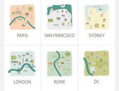Travel Theme Nursery Wall Decor: Playful Tourism by mungavision