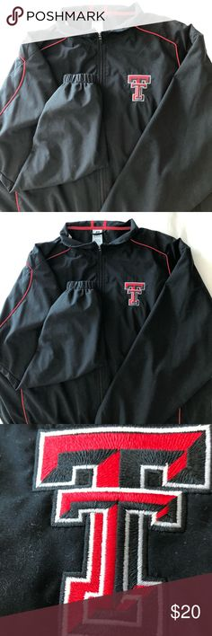 Official Texas Tech University Jacket This is a lightweight jacket with the Texas Tech logo. Authentic and in great condition!  Wreck 'Em Tech!! Russell Athletic Jackets & Coats Windbreakers
