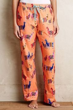 Anthropologie - Llama PJs in a small but only if they're on sale! Alpacas, Anthropologie, Llama Pajamas, Pyjamas, Kate Spade New York, Llama Gifts, Sleep Pants, Lounge Wear, What To Wear