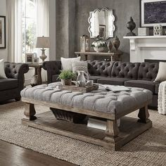 Farmhouse coffee table can be added to your living room or your dining room. Coffee table is important furniture that must be added to your room since it can be used to gather with all people. It can be used… Continue Reading → Home Living Room, Living Room Designs, Living Room Decor, Apartment Living, Cottage Living, Decor Room, Room Decorations, Cozy Living, Apartment Therapy