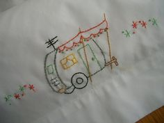 Travel Trailer Embroidered Pillowcase. $28.00, via Etsy.