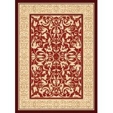 Dallas Baroness Red Area Rug
