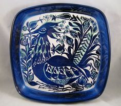 by: Royal Copenhagen, Denmark designer: Marianne Johnson material: glazed faience ceramic size: 8 x 1 shipping weight: lb Please see last photo for scale - this dish is the largest one pictured. Royal Copenhagen, Copenhagen Denmark, Danish Modern, Midcentury Modern, Statues, Original Design, Peacock Bird, Motif Design, Sculpture