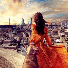 #followmeto the amazing city Baku in Azerbaijan with @yourleo. For those who haven't been to this city - you should definitely visit it! Thanks to @olivemah for inviting us :).