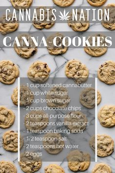 Ooey-Gooey, Goodness: Cannabis-Infused Cookies - Only the best deserve the best! Cannabis Nation is here to present the gooiest, chewiest, meltiest c - Weed Recipes, Marijuana Recipes, Cannabis Edibles, Baking Recipes, Snack Recipes, Dessert Recipes, Desserts, Kombucha, Pipes And Bongs