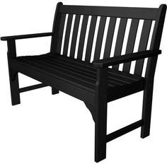 "Polywood GNB48BL Vineyard 48"" Bench Black Finish"