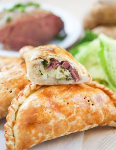 Corned Beef & Cabbage Pasties | Thirsty for Tea