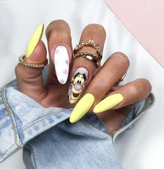 Nails by Adrianna Wysocka Disney Acrylic Nails, Disney Nails, Best Acrylic Nails, Acrylic Nail Designs, Disney Inspired Nails, Bling Nails, Dope Nails, Swag Nails, Cartoon Nail Designs