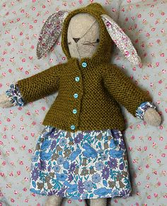 Ravelry : Little Hooded Coat for Rabbits pattern by Alicia Paulson
