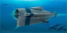 Subnautica Cyclops by Pat C Presley