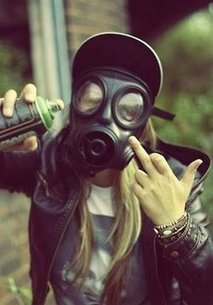 Gas mask. Sorry for the finger :/