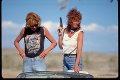 Thelma And Louise - Publicity still of Susan Sarandon & Geena Davis. The image measures 3072 * 2048 pixels and was added on 11 September Thelma And Louise Movie, Catherine Baba, Old School Pictures, Geena Davis, Film Movie, Movies, Jean Luc Godard, Susan Sarandon, Tokyo Street Style