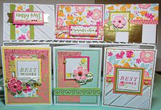"CTMH ""Happy Times"" Card Workshop Cards 1-6"