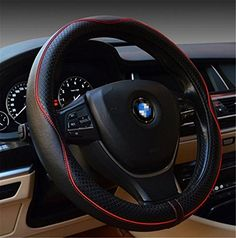 Gomass Automotive Interior Accessories 38cm Emboss Top Leather Steering Wheel Cover Thick Nylon Interior Ring Soft Breathable Steering Wheel Wrap (Black+red) - http://www.caraccessoriesonlinemarket.com/gomass-automotive-interior-accessories-38cm-emboss-top-leather-steering-wheel-cover-thick-nylon-interior-ring-soft-breathable-steering-wheel-wrap-blackred/  #38Cm, #Accessories, #Automotive, #BlackRed, #Breathable, #Cover, #Emboss, #Gomass, #Interior, #Leather, #Nylon, #Ring,