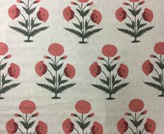 Moghul Poppy | Christopher Moore | Textile Designers | Nicola Lawrence Textiles…